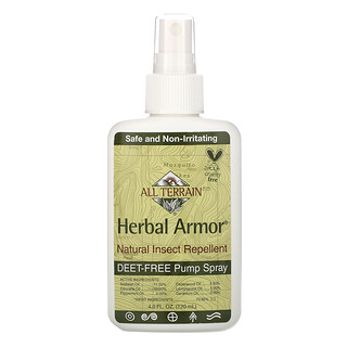 All Terrain, Herbal Armor, Natural Insect Repellent, 4 fl oz (120 ml)