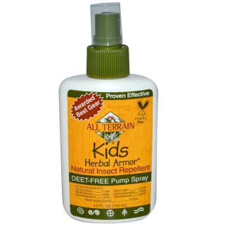 All Terrain, Kids Herbal Armor, Repelente natural de insectos, 4 fl oz (120 ml)