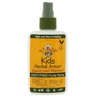 All Terrain, Kids Herbal Armor, Repelente de Inseto Natural, 4 fl. oz. (120 ml)