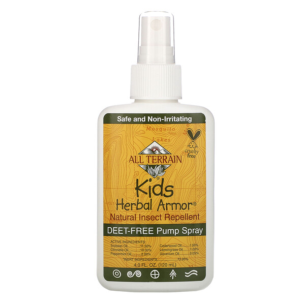 Kids Herbal Armor, Repelente natural de insectos, 4 fl oz (120 ml)