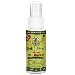 All Terrain, Herbal Armor,天然无 Deet 驱蚊防虫喷雾,2.0 盎司(59 毫升)