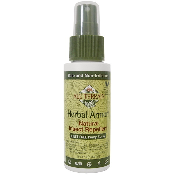 All Terrain, Herbal Armor, Insect Repellant DEET-Free Pump Spray, 2.0 fl oz (60 ml)