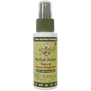 Ол Тирэйн, Herbal Armor, Insect Repellant DEET-Free Pump Spray, 2.0 fl oz (60 ml) отзывы