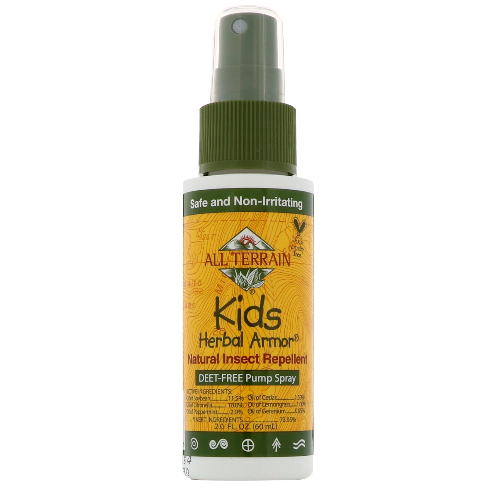 All Terrain, Kids Herbal Armor, Natural Insect Repellent, 2 0 fl oz (60 ml)
