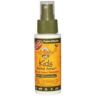 All Terrain, Kids Herbal Armor, repelente para insectos natural, libre de DEET, con atomizador , 2.0 fl oz (60 ml)