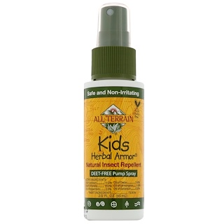 All Terrain, Kids Herbal Armor, Repelente natural contra insectos, 2.0 fl oz (60 ml)