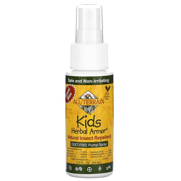 "All Terrain, Kids Herbal Armor, דוחה חרקים טבעי, 59 מ""ל (2.0 אונקיות נוזל)"