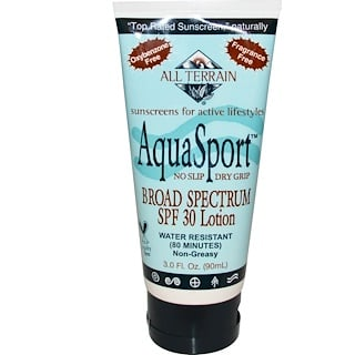 All Terrain, AquaSport, Broad Spectrum SPF 30 Lotion, 3.0 fl oz (90 ml)