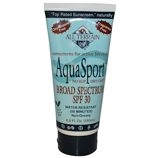 All Terrain, AquaSport, Broad Spectrum SPF 30, 6.0 fl oz (180 ml)
