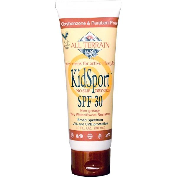 All Terrain, KidSport, Sunscreen, SPF 30, 1.0 fl oz (30 ml) (Discontinued Item)
