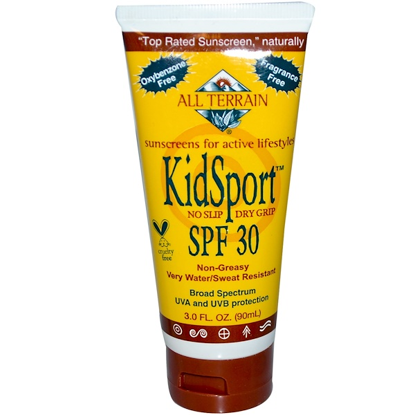 All Terrain, KidSport SPF 30, Fragrance Free, 3.0 fl oz (90 ml) (Discontinued Item)