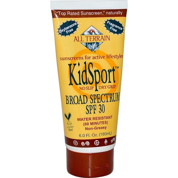 All Terrain, KidSport, Sunscreen, SPF 30, Fragrance Free, 6.0 fl oz (180 ml) (Discontinued Item)