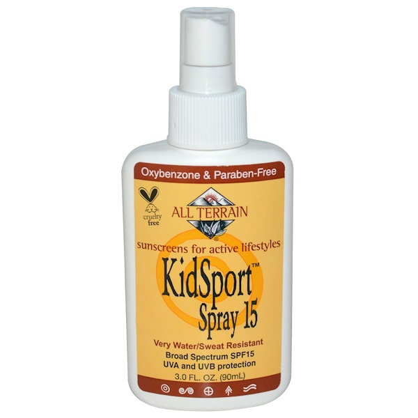 All Terrain, KidSport Spray SPF 15, 3.0 fl oz (90 ml) (Discontinued Item)