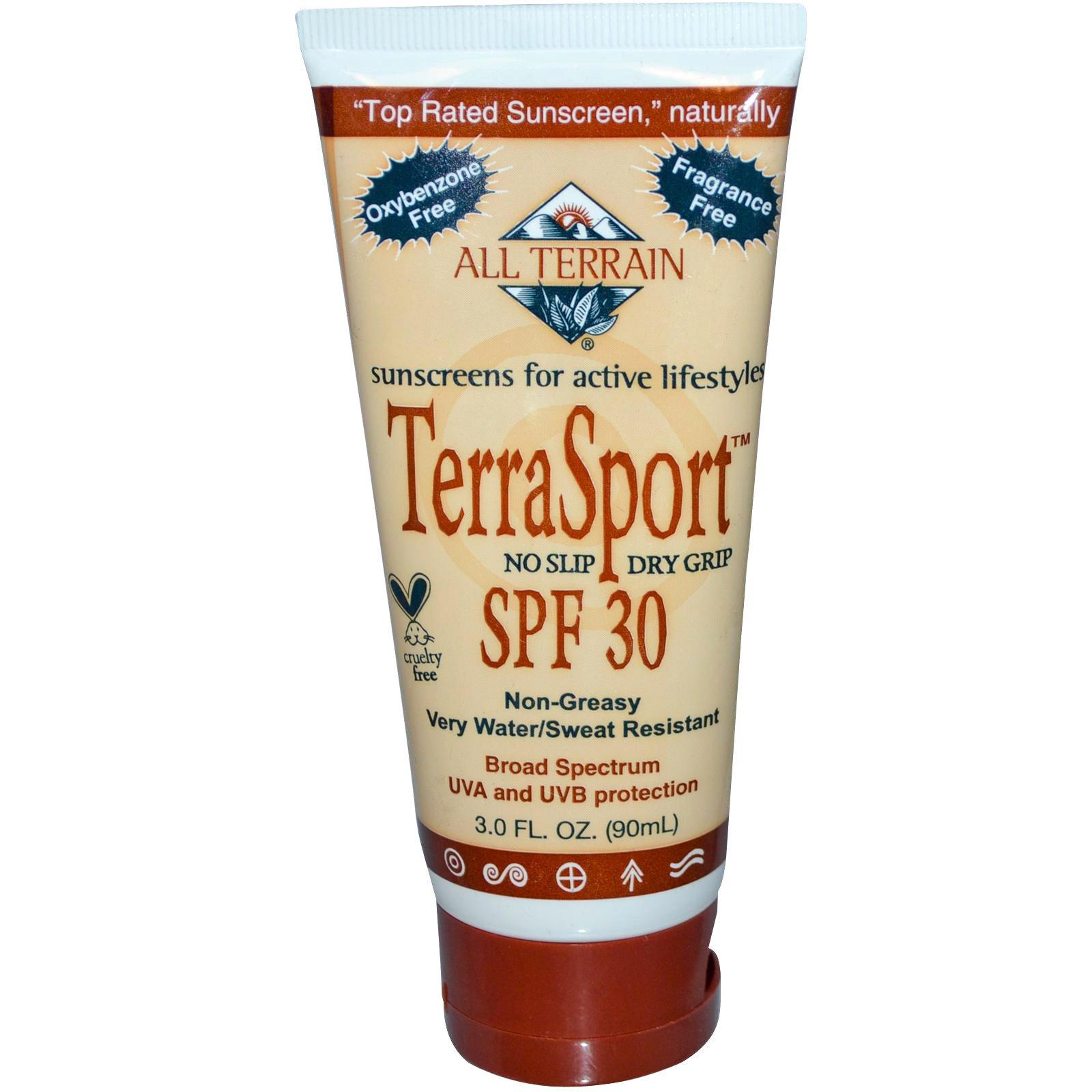 All Terrain, Солнцезащитный крем «ТерраСпорт», SPF 30, без запаха, 3,0 жидких унции (90 мл)