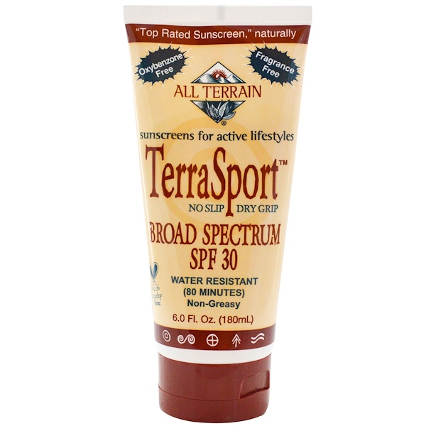 All Terrain, TerraSport, Sunscreen, SPF 30, Fragrance Free, 6.0 fl oz (180 ml) (Discontinued Item)