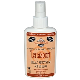 All Terrain, TerraSport, Sunscreen Broad Spectrum SPF 30 Spray, 3.0 fl oz (90 ml)