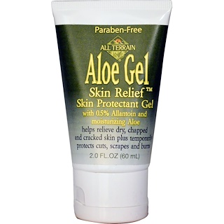 All Terrain, Aloe Gel Skin Relief Skin Protectant Gel, 2.0 fl oz (60 ml)