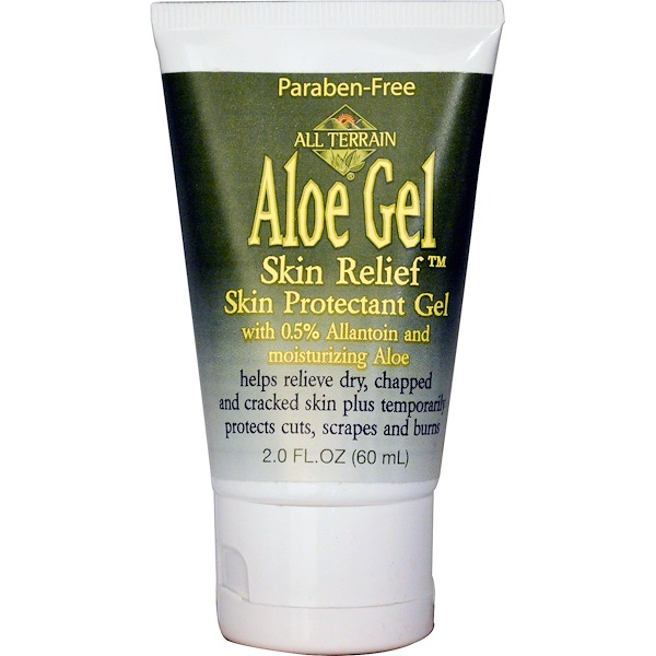 All Terrain, Aloe Gel Skin Relief Skin Protectant Gel, 2.0 fl oz (60 ml) (Discontinued Item)