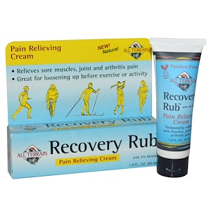 Ол Тирэйн, Recovery Rub, Pain Relieving Cream, 1.0 fl oz (30 ml) отзывы покупателей