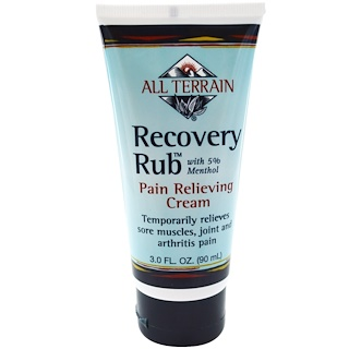 All Terrain, Recovery Rub, Pain Relieving Cream, 3.0 fl oz (90 ml)