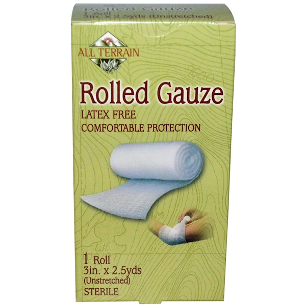 All Terrain, Rolled Gauze, 1 Roll, 3 in X 2.5 yds (Unstreched) (Discontinued Item)
