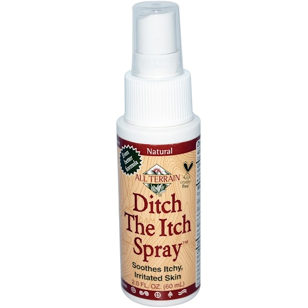 All Terrain, Ditch The Itch Spray, 2.0 fl oz (60 ml) (Discontinued Item)
