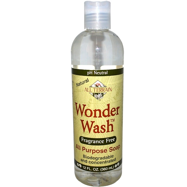 All Terrain, Wonder Wash, All Purpose Soap, Fragrance Free, 12 fl oz (360 ml) (Discontinued Item)