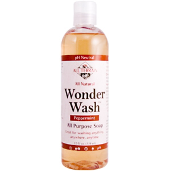 All Terrain, Wonder Wash, All Purpose Soap, Peppermint, 12 fl oz (360 ml) (Discontinued Item)