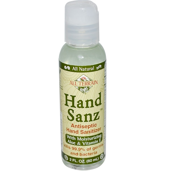 All Terrain, Hand Sanz, Antiseptic Hand Sanitizer, 2 fl oz (60 ml) (Discontinued Item)