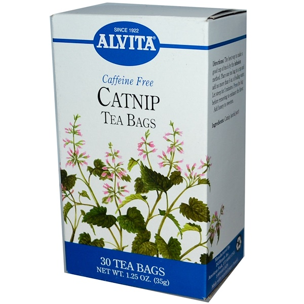 Alvita Teas, Catnip, Caffeine Free, 30 Tea Bags, 1.25 oz (35 g) (Discontinued Item)