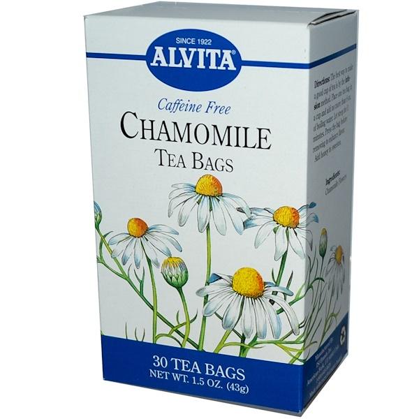 Alvita Teas, Chamomile Tea Bags, Caffeine Free, 30 Tea Bags, 1.5 oz (43 g) (Discontinued Item)