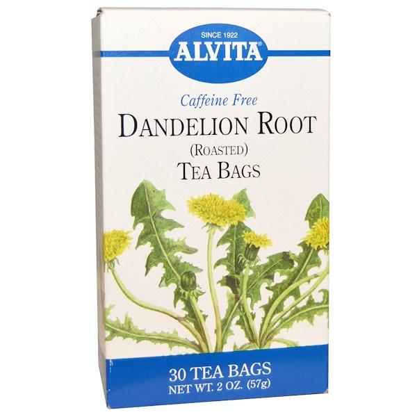 Alvita Teas, Dandelion Root, Roasted, Caffeine Free, 30 Tea Bags, 2 oz (57 g) (Discontinued Item)