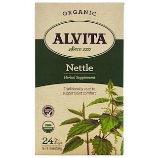 Alvita Teas, オーガニック、イラクサ茶、カフェインフリー、ティーバック24袋、1.69オンス(48 g)