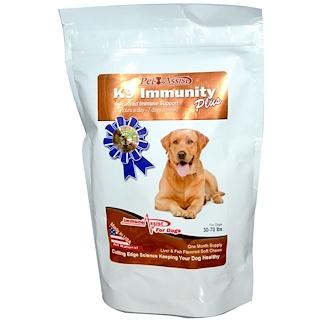 Aloha Medicinals Inc., K9 Inmunidad Extra Para Perros, 60 Obleas Suaves y Masticables, con Sabor a Hígado y Pescado.