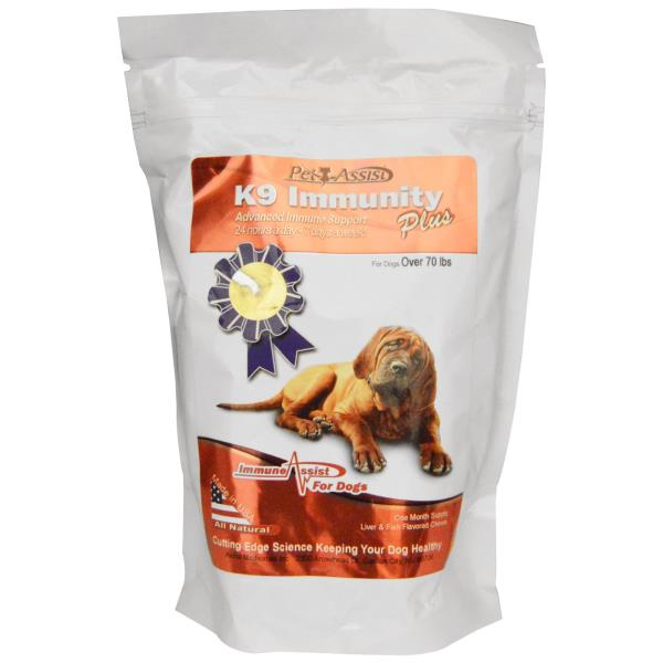 Aloha Medicinals Inc., K9 Immunity Plus, For Large Dogs, Liver & Fish Flavored, 90 Soft Chews