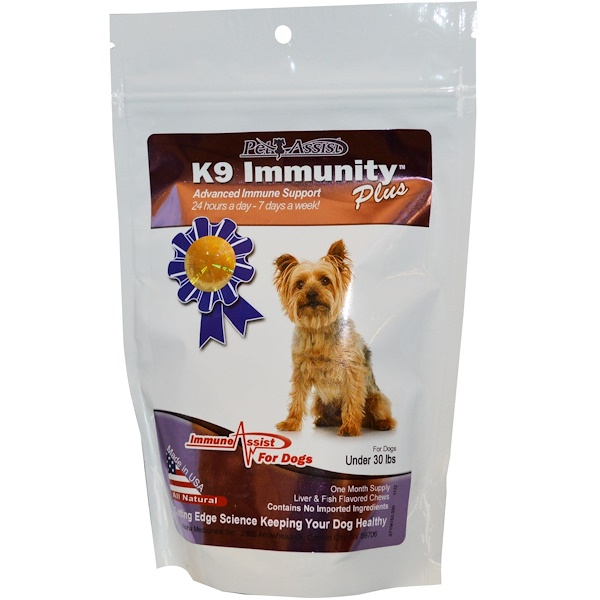 Aloha Medicinals, K9 Immunity Plus, for Dogs, Liver & Fish Flavored Soft Chews, 30 Wafers (Discontinued Item)