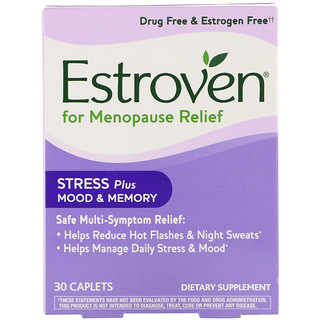 Estroven, Menopause Relief, Stress Plus Mood & Memory, 30 Caplets