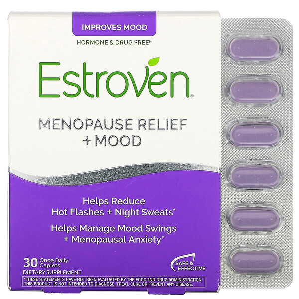 Estroven, Menopause Relief + Mood, 30 Once Daily Caplets (Discontinued Item)