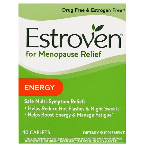 Estroven, Menopause Relief, Energy, 40 Caplets (Discontinued Item)