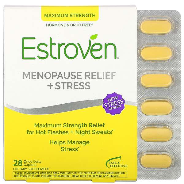 Menopause Relief, Maximum Strength + Energy, 28 Once Daily Caplets