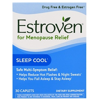 Estroven, Menopause Relief, Sleep Cool, 30 Caplets