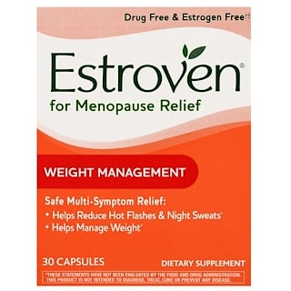 Estroven, Menopause Relief, Weight Management, 30 Capsules