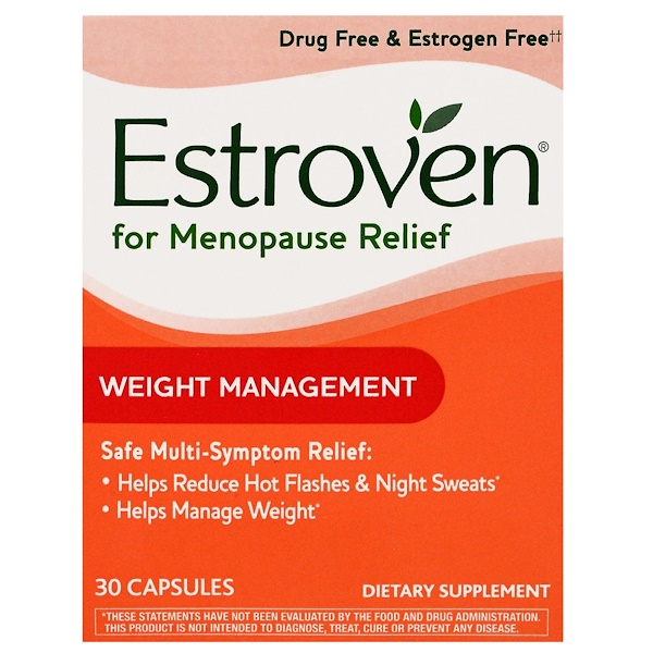 Estroven, Menopause Relief, Weight Management, 30 Capsules