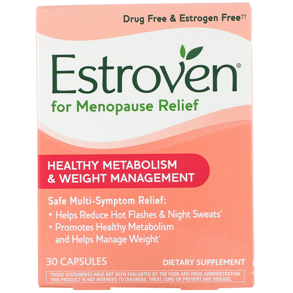 Estroven, Menopause Relief, Healthy Metabolism & Weight Management, 30 Capsules