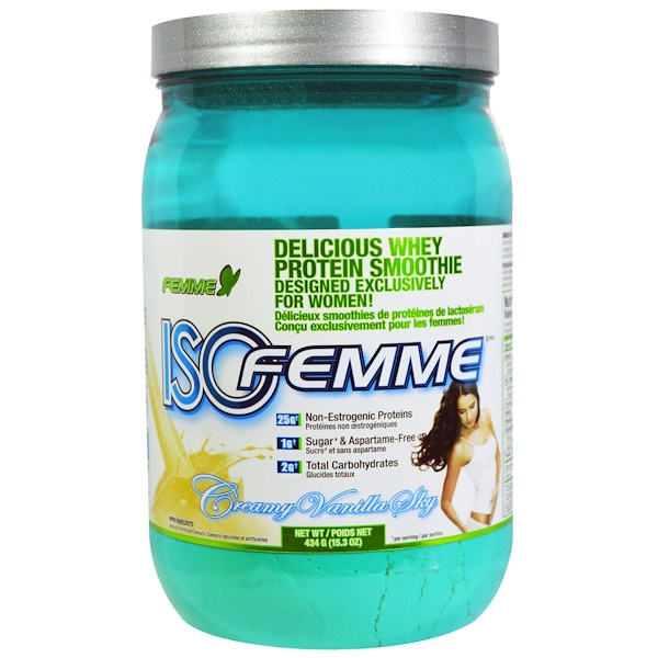 FEMME, Isofemme, Protein Smoothie, Creamy Vanilla Sky, 15.3 oz (434 g) (Discontinued Item)