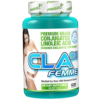 FEMME, CLA80, 1,000 mg, 60 Softgels