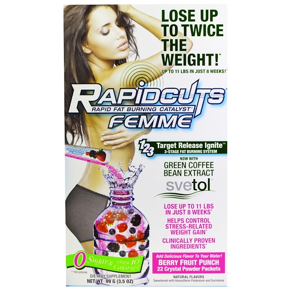 Femme Rapidcuts Rapid Fat Burning Catalyst Berry Fruit Punch