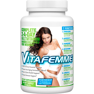 FEMME, Vitafemme, Women's Complete Multivitamins, 2 Per Day, 60 Tablets