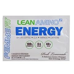 FEMME, Energía de aminos magros, Limonada rosa, 0.25 oz (7 g)