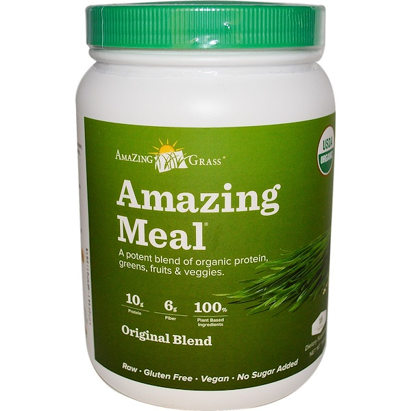 Amazing Grass, Amazing Meal, Original Blend, 11.8 oz (Discontinued Item)